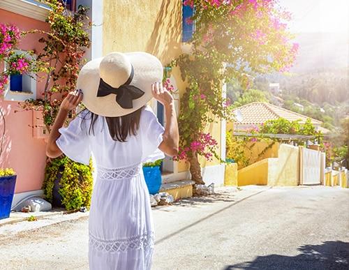 Woman on Greek Isle