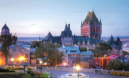 Picture of Montreal in the evening