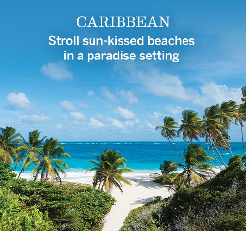 Caribbean | Stroll sun-kissed beaches in a paradise setting